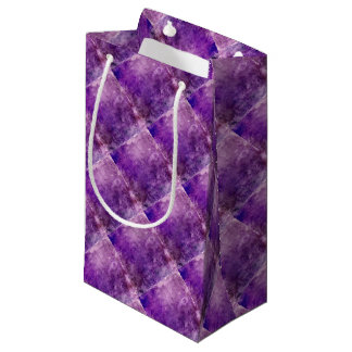 Abstract violet small gift bag