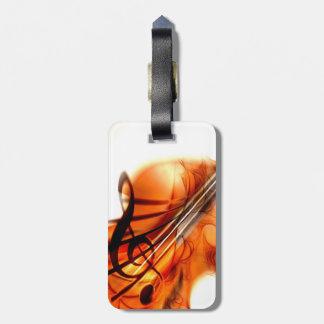 Abstract Violin Art Luggage Tag