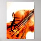 Abstract Violin Art Poster