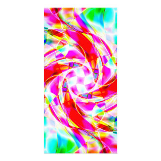 Abstract Volleyball Picture Card