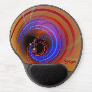 Abstract Vortex Modern Art Monogram Gel Mousepad