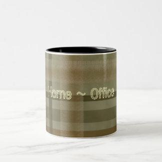 Abstract Warm Earth Tones Custom Coffee Cup Two-Tone Coffee Mug