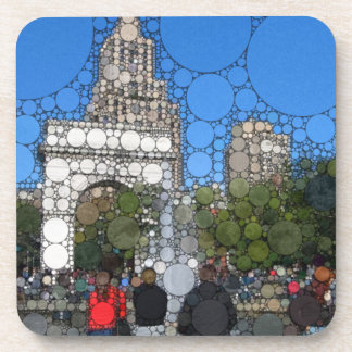 Abstract Washington Square Park New York Beverage Coaster