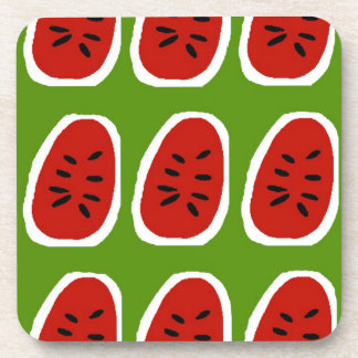 Abstract Water Melon Drink Coaster