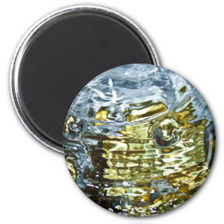 Abstract Water Photography 2 Inch Round Magnet