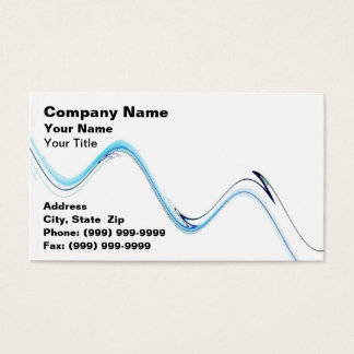Abstract Water Wave Business Card