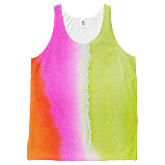 Abstract Watercolor All-Over Printed Unisex Tank