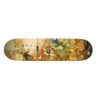 Abstract watercolor and old background custom skate board