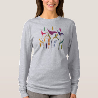 Abstract Watercolor Art Floral Add TextT-shirt T-Shirt