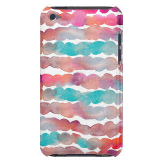 Abstract Watercolor Background Stripes Barely There iPod Case