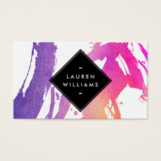 Abstract Watercolor Brushstrokes Business Card
