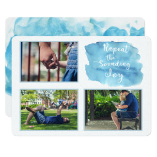 Abstract Watercolor Calligraphy Photo Card