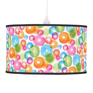 Abstract Watercolor Circles Pendant Lamp