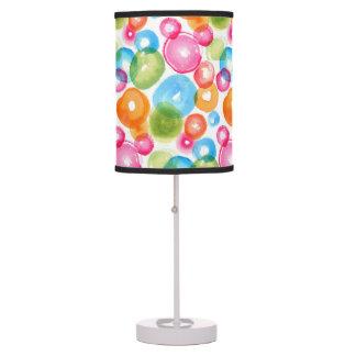 Abstract Watercolor Circles Table Lamp