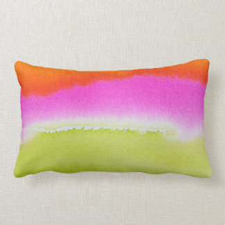 "Abstract Watercolor Cotton Pillow 13"" x 21"""