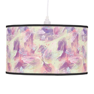 Abstract Watercolor Dragonflies Lamp
