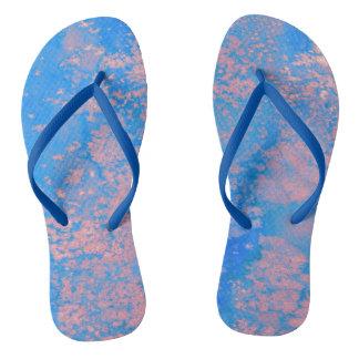 Abstract watercolor flip flops