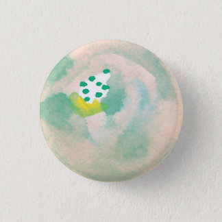 Abstract Watercolor Floral Button