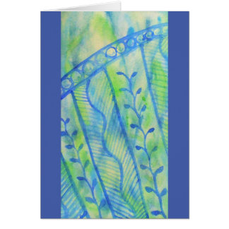 Abstract watercolor floral graphics card