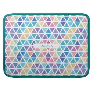 Abstract Watercolor Geometric (Coral Reef Tones) Sleeve For MacBooks