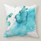Abstract watercolor hand painted background 2 throw pillow