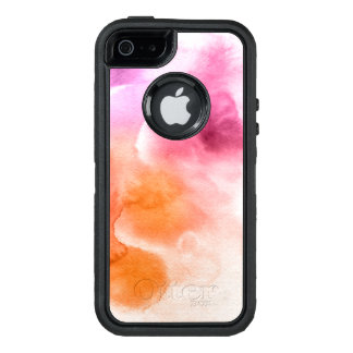 Abstract watercolor hand painted background 3 2 OtterBox defender iPhone case