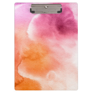 Abstract watercolor hand painted background 3 3 clipboard