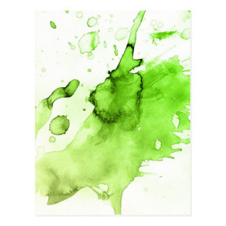 Abstract watercolor hand painted background 3 postcard