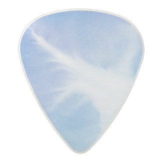 Abstract watercolor hand painted background 4 acetal guitar pick