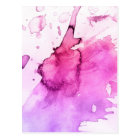 Abstract watercolor hand painted background 5 postcard