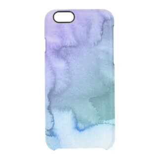 Abstract watercolor hand painted background 6 clear iPhone 6/6S case