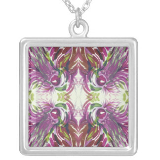 Abstract Watercolor Kaleidoscope Necklace
