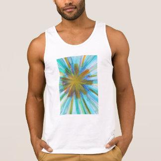 Abstract watercolor kaleidoscope style
