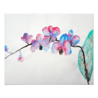 Abstract watercolor Orchid Photo
