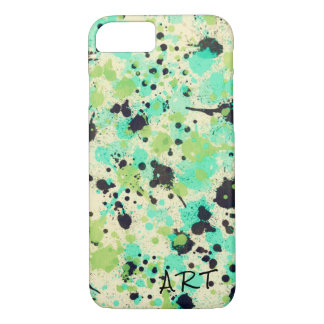 Abstract Watercolor Paint Splatter Monogram Design iPhone 8/7 Case