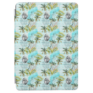 Abstract Watercolor Palm Tree Pattern iPad Air Cover