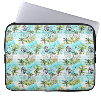 Abstract Watercolor Palm Tree Pattern Laptop Sleeve