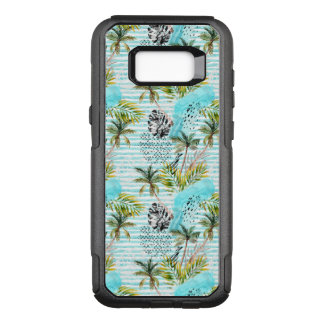 Abstract Watercolor Palm Tree Pattern OtterBox Commuter Samsung Galaxy S8+ Case