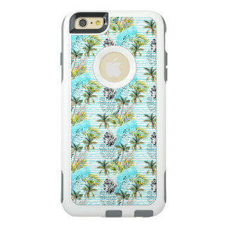 Abstract Watercolor Palm Tree Pattern OtterBox iPhone 6/6s Plus Case