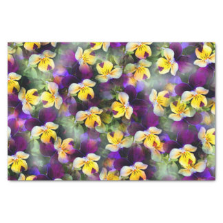 Abstract Watercolor Pansies Tissue Paper