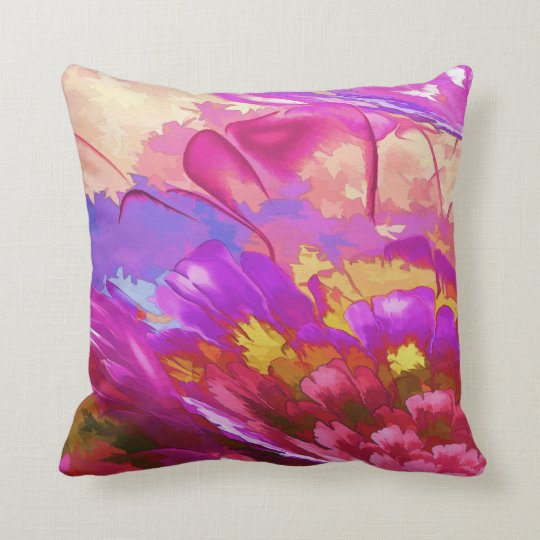 Abstract Watercolor Pillow, Throw Pillow
