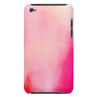 Abstract Watercolor Pink Coral Orange Colorful Barely There iPod Case