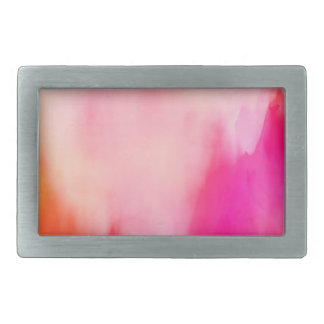 Abstract Watercolor Pink Coral Orange Colorful Belt Buckles