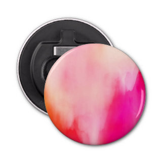 Abstract Watercolor Pink Coral Orange Colorful Bottle Opener