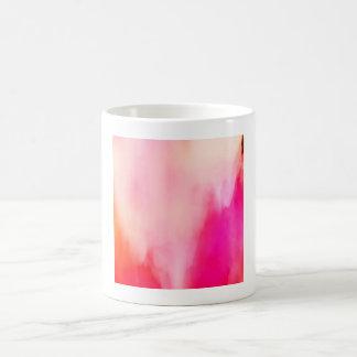 Abstract Watercolor Pink Coral Orange Colorful Coffee Mug