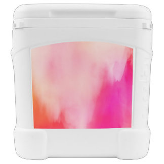 Abstract Watercolor Pink Coral Orange Colorful Cooler