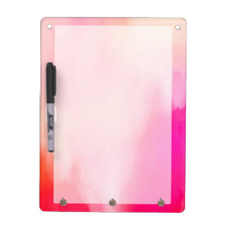 Abstract Watercolor Pink Coral Orange Colorful Dry Erase Board