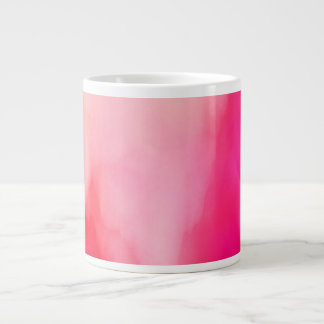 Abstract Watercolor Pink Coral Orange Colorful Giant Coffee Mug