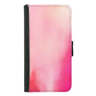 Abstract Watercolor Pink Coral Orange Colorful Samsung Galaxy S5 Wallet Case