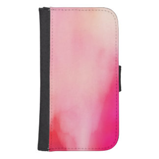 Abstract Watercolor Pink Coral Orange Colorful Samsung S4 Wallet Case